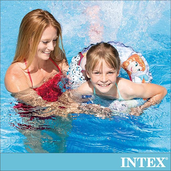 【INTEX】冰雪奇緣ELSA-游泳圈51cm適用3-6歲(56201)