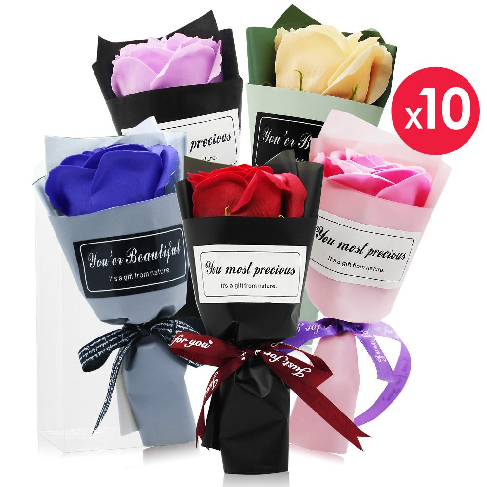 O'Pretty 歐沛媞 浪漫玫瑰香皂花束50入婚宴綻放組(多色)-婚禮小物宴客禮節慶佈置