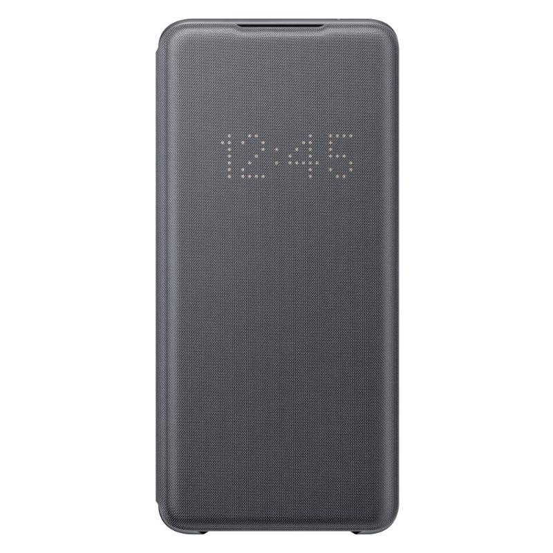 SAMSUNG Galaxy S20 Ultra 5G LED皮革翻頁式皮套 灰