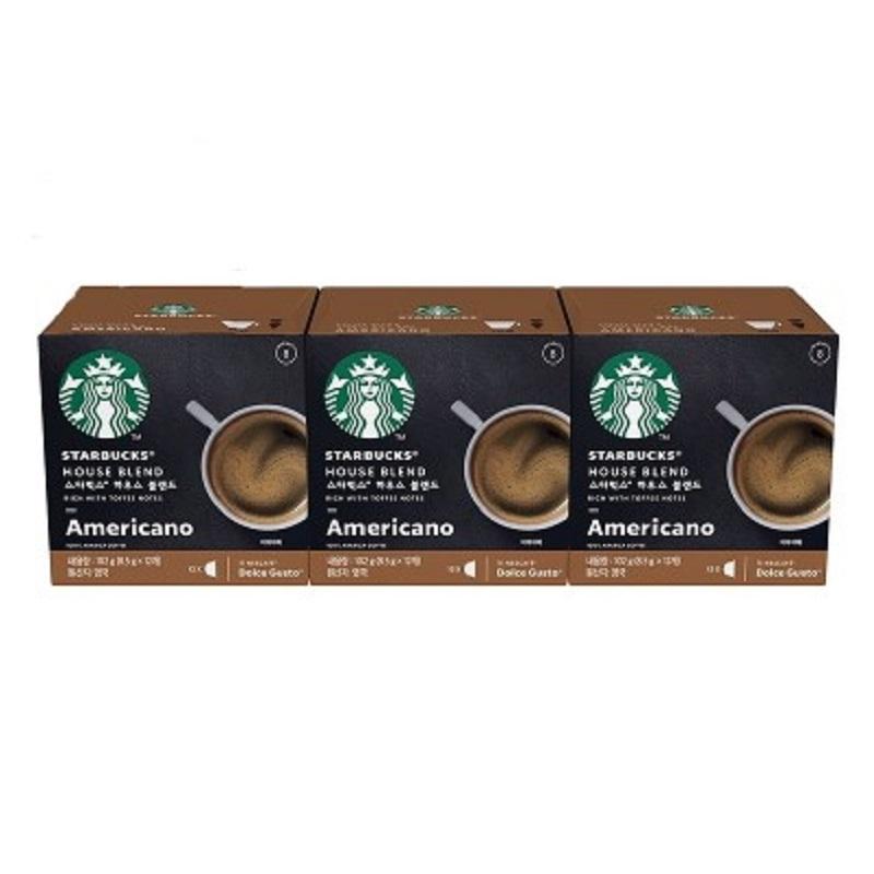 售完不補【雀巢 Nestle】星巴克家常美式咖啡膠囊3盒入 36顆超值組(12顆/盒,共3盒)(效期至:2021/06/30)