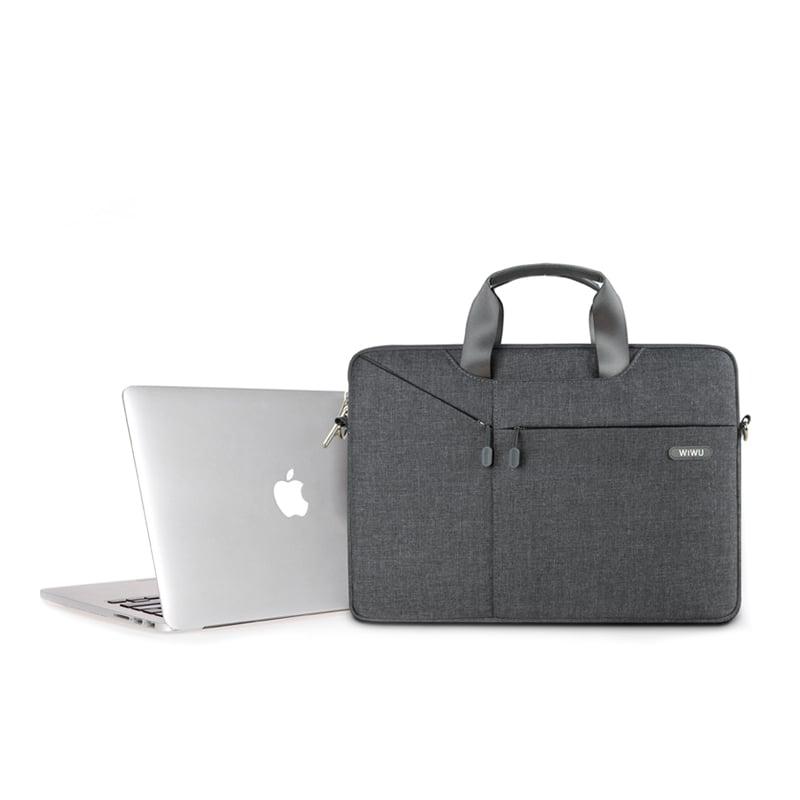 【WiWU】Shuttle laptop bag 15.4吋防潑水手提電腦包-灰色