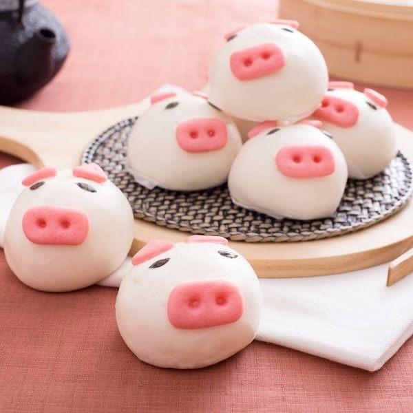 《禎祥食品》小豬甜包(芋頭)(10粒/包,共三包)