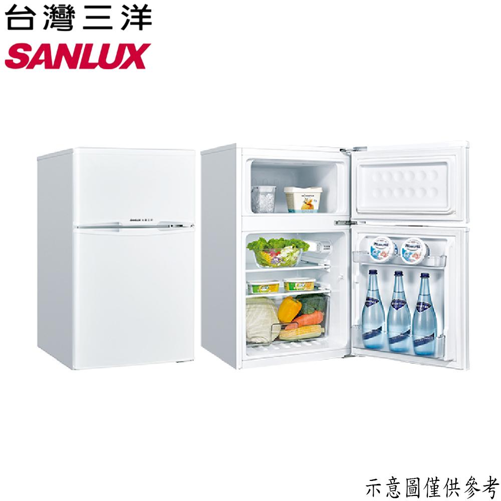【SANLUX台灣三洋】102L 定頻雙門冰箱 SR-C102B1