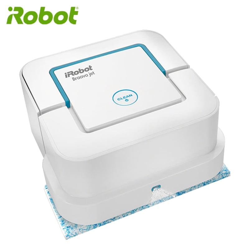 【買就送原廠拋棄式抹布】美國iRobot Braava Jet 240 低噪音 濕拖 濕擦 乾擦三用機器人擦地機 保固15個月