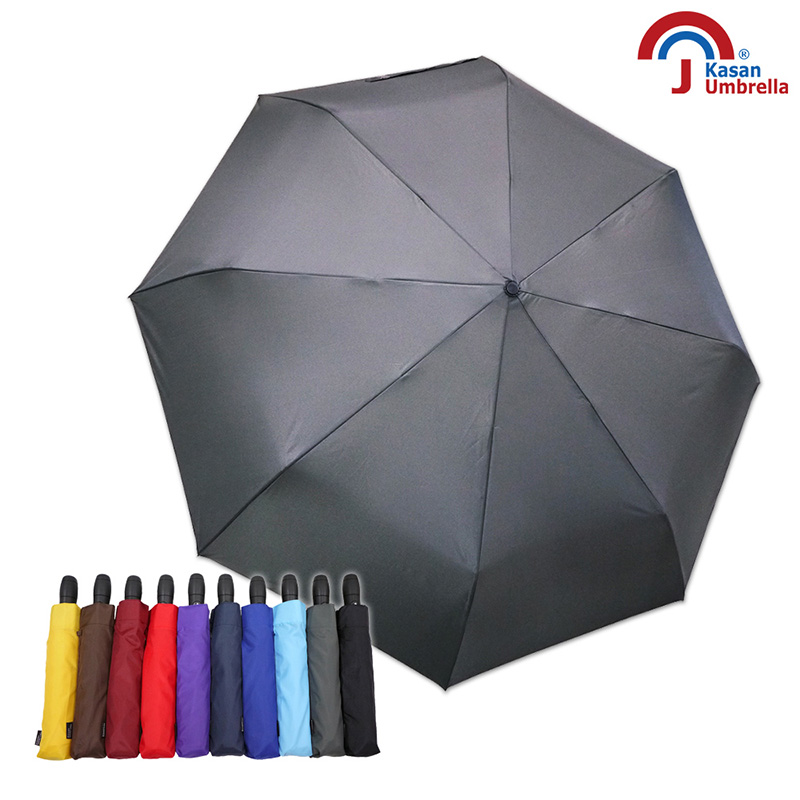 Kasan 晴雨傘 新大無敵自動開收雨傘 鐵灰