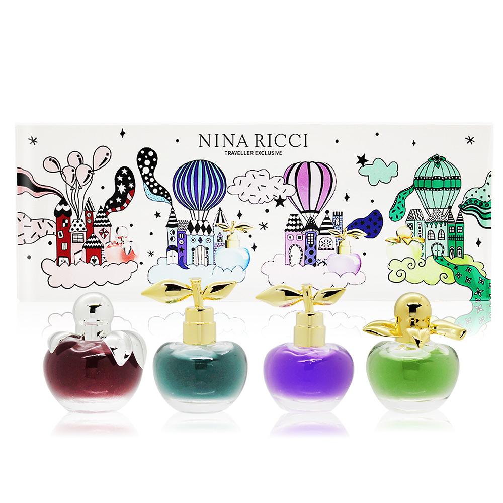 NINA RICCI 蘋果系列女性小香旅行禮盒[貝拉+蘋果甜心+ 閨蜜甜心+露娜繽紛樂]-香水航空版