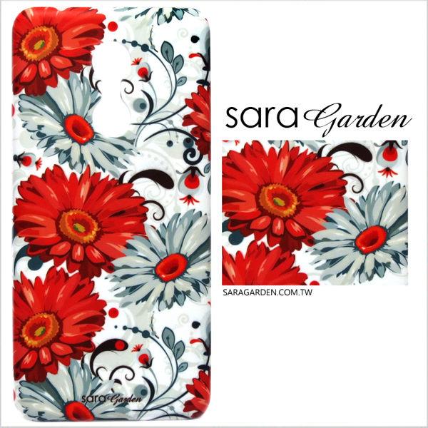 【Sara Garden】客製化 手機殼 小米 紅米5 保護殼 硬殼 玫瑰罌粟碎花