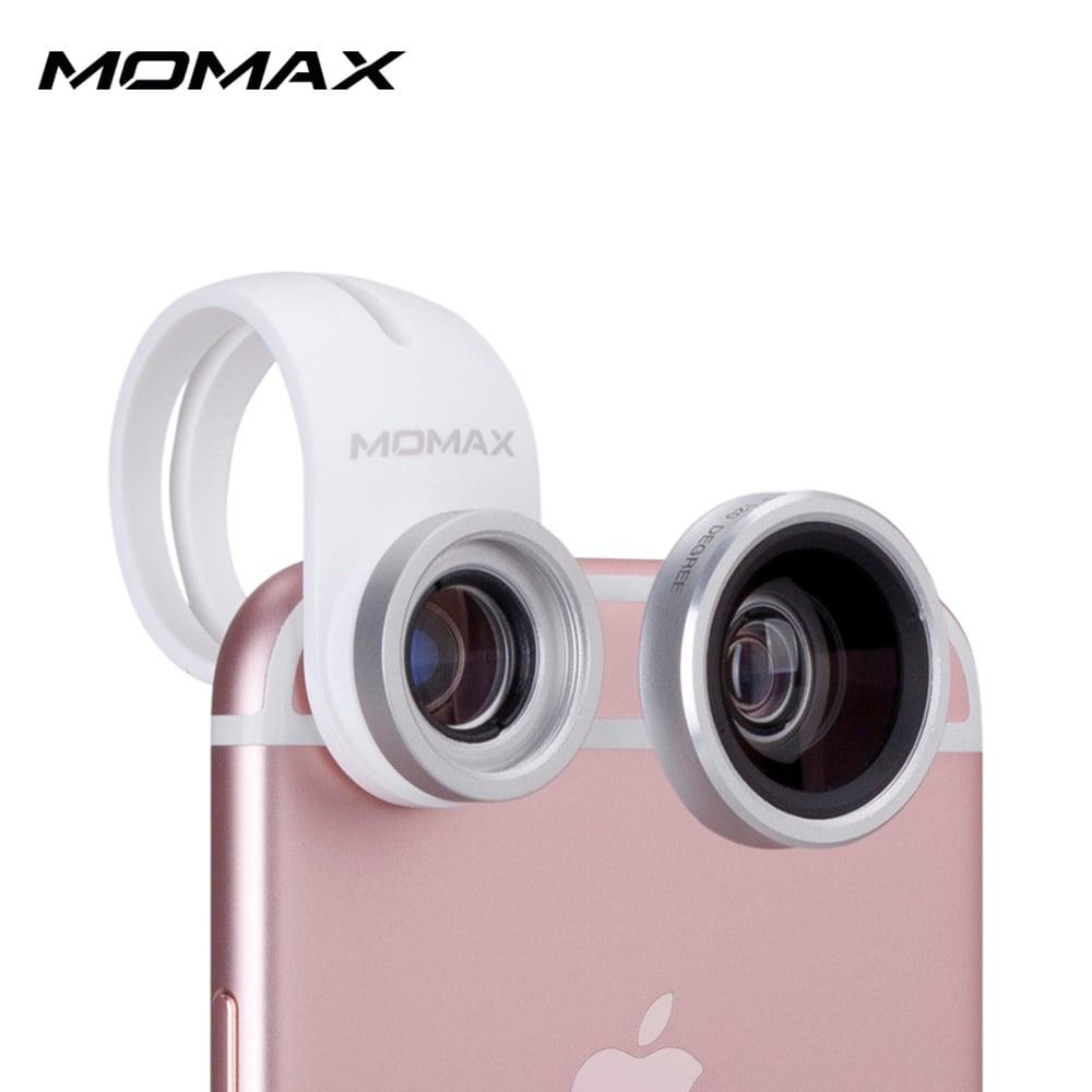 MOMAX 廣角 微距 二合一手機鏡頭-銀色