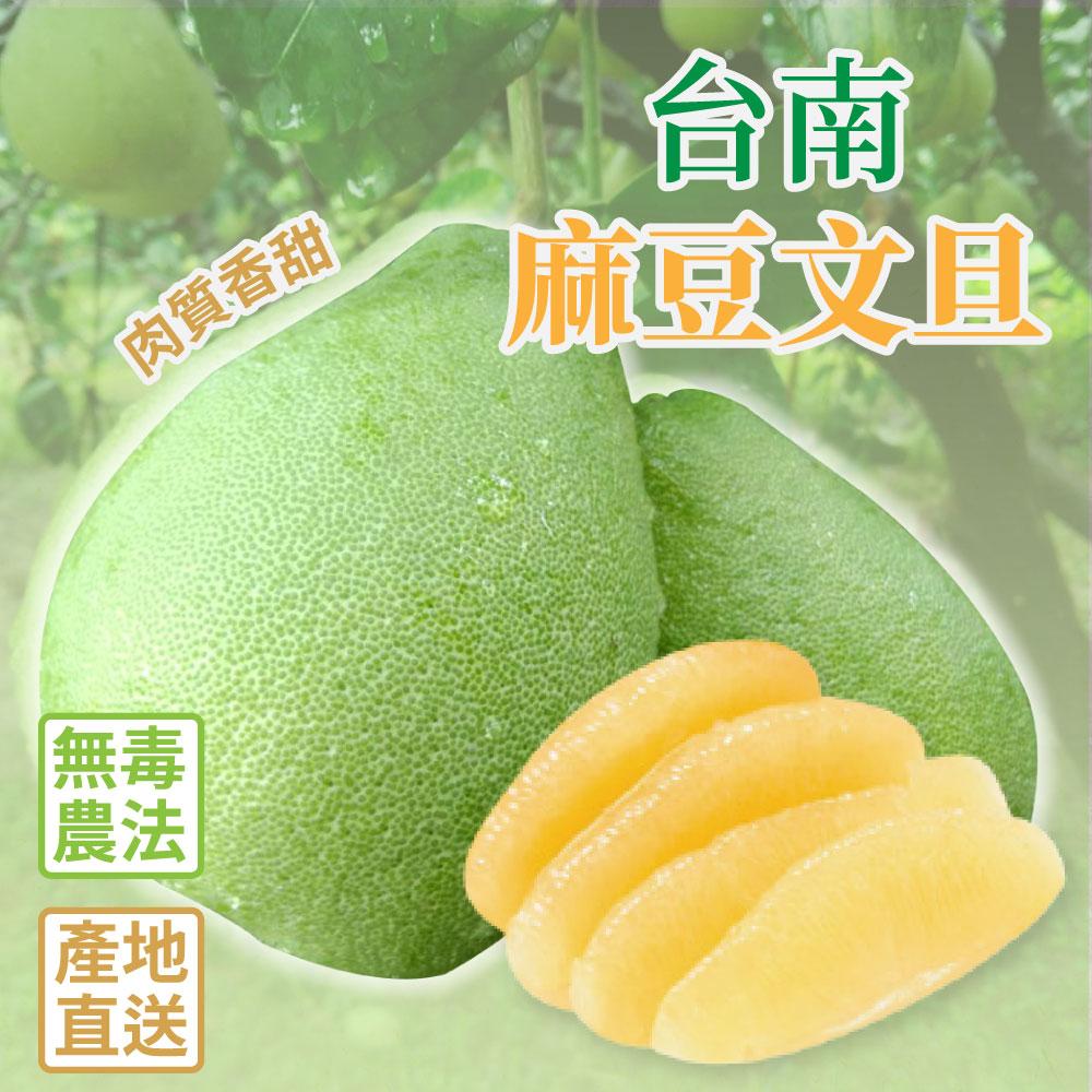 【家購網嚴選】台南麻豆老欉文旦禮盒 10斤/盒 (9-14顆) 無毒農法栽種