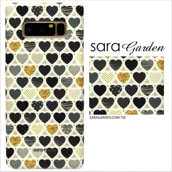 【Sara Garden】客製化 手機殼 Samsung 三星 A7(2018) 愛心 金箔 圓點 保護殼 硬殼