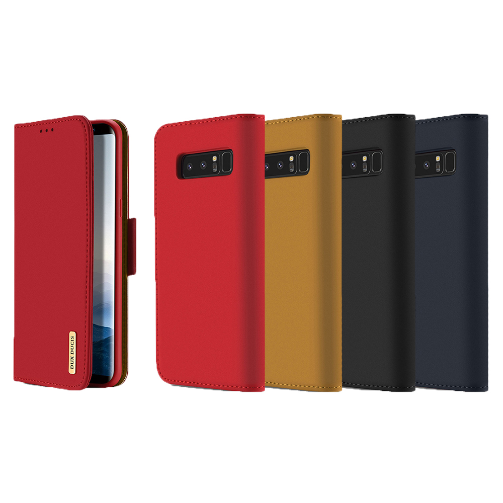 DUX DUCIS SAMSUNG Galaxy Note 8 WISH 真皮皮套(藏藍)