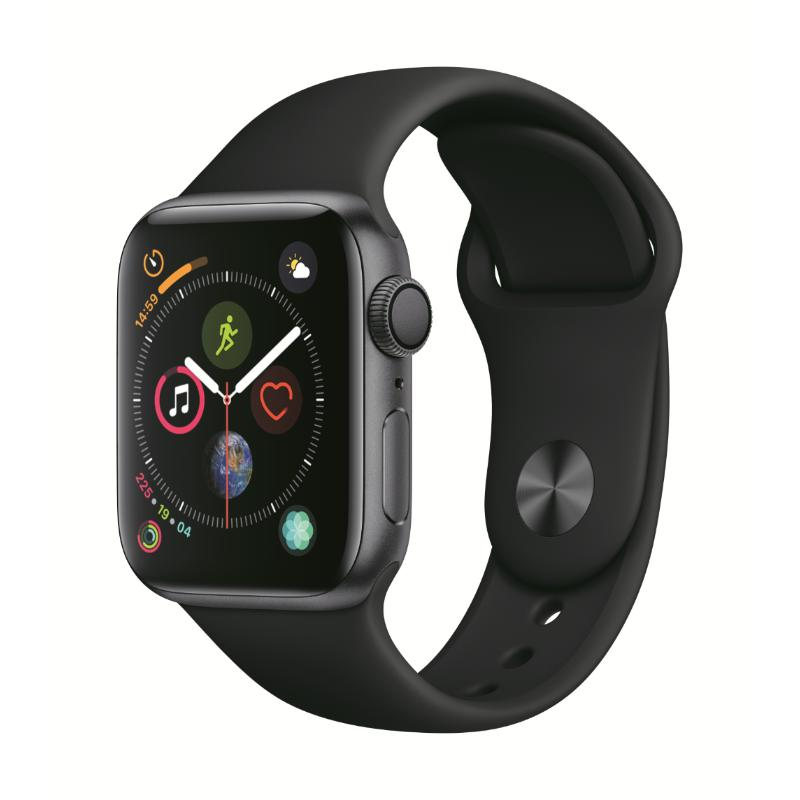 Apple Watch S4 LTE 40mm 太空灰色鋁金屬-黑色運動型錶帶