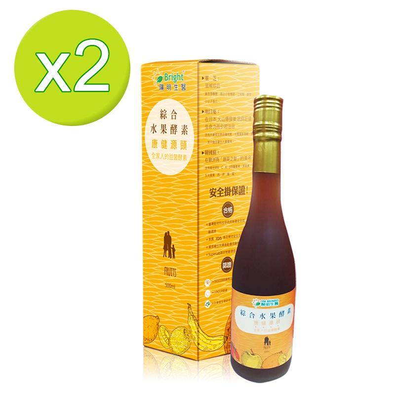 陽明生醫 綜合水果酵素 500ml x 2瓶