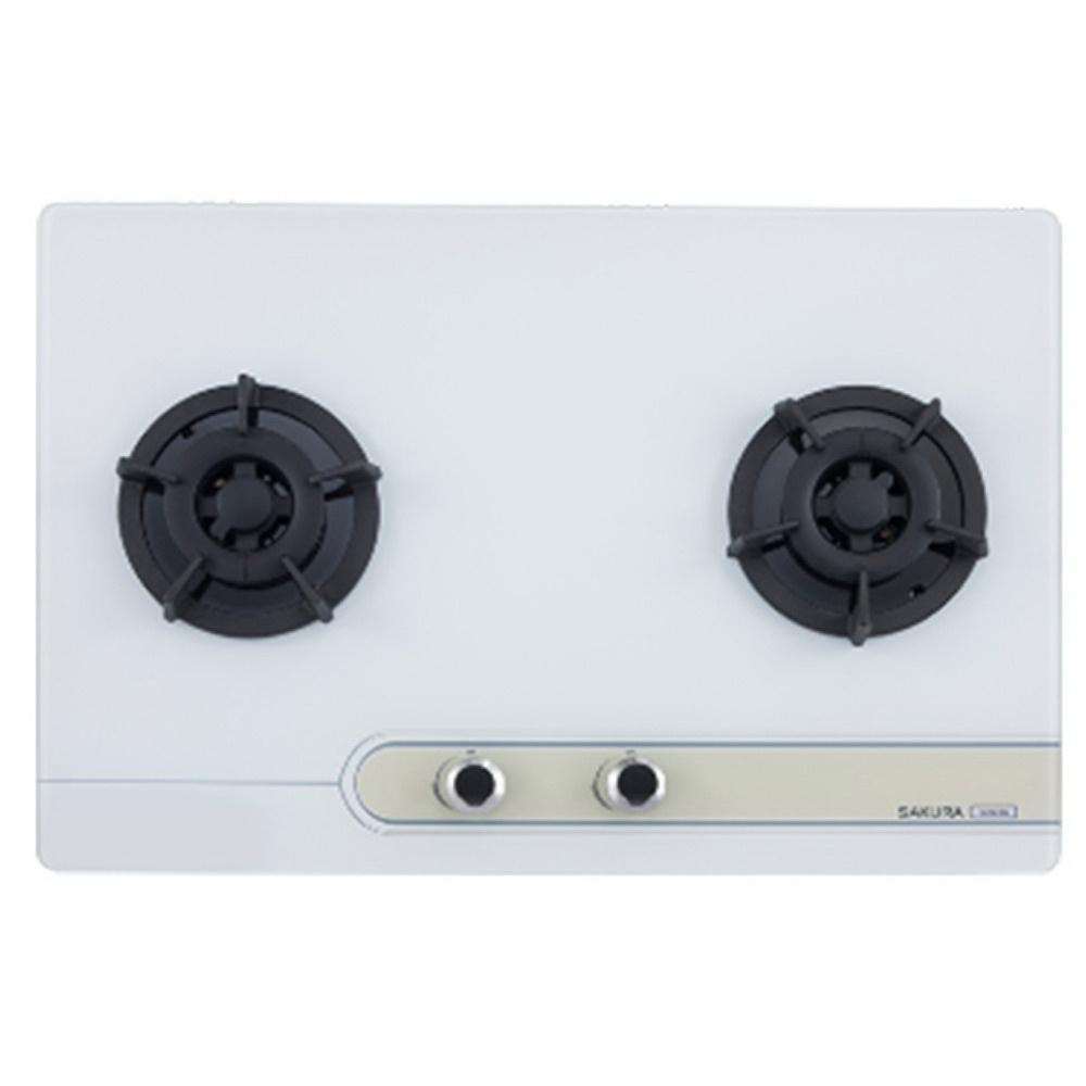 【櫻花 SAKURA】二口大面板易清檯面爐 G2623G (全台標準安裝,安裝費由現場安裝人員收取)