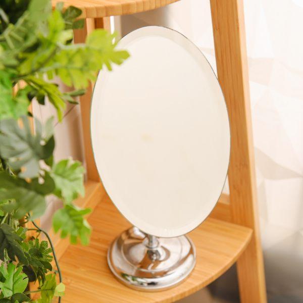 橢圓可調整方向桌上鏡-生活工場