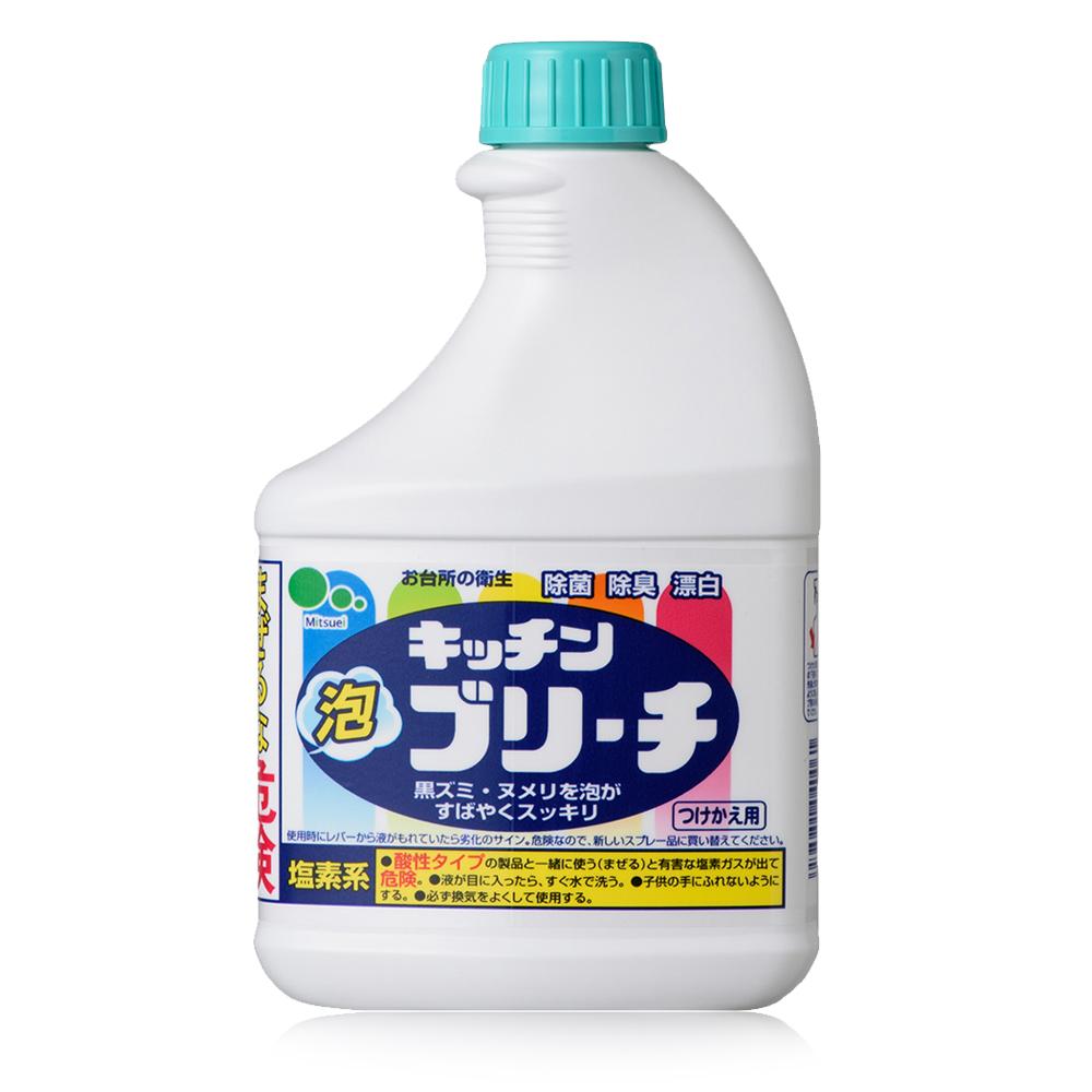 日本Mitsuei美淨易廚房泡沫漂白劑 補充瓶400mlx5入
