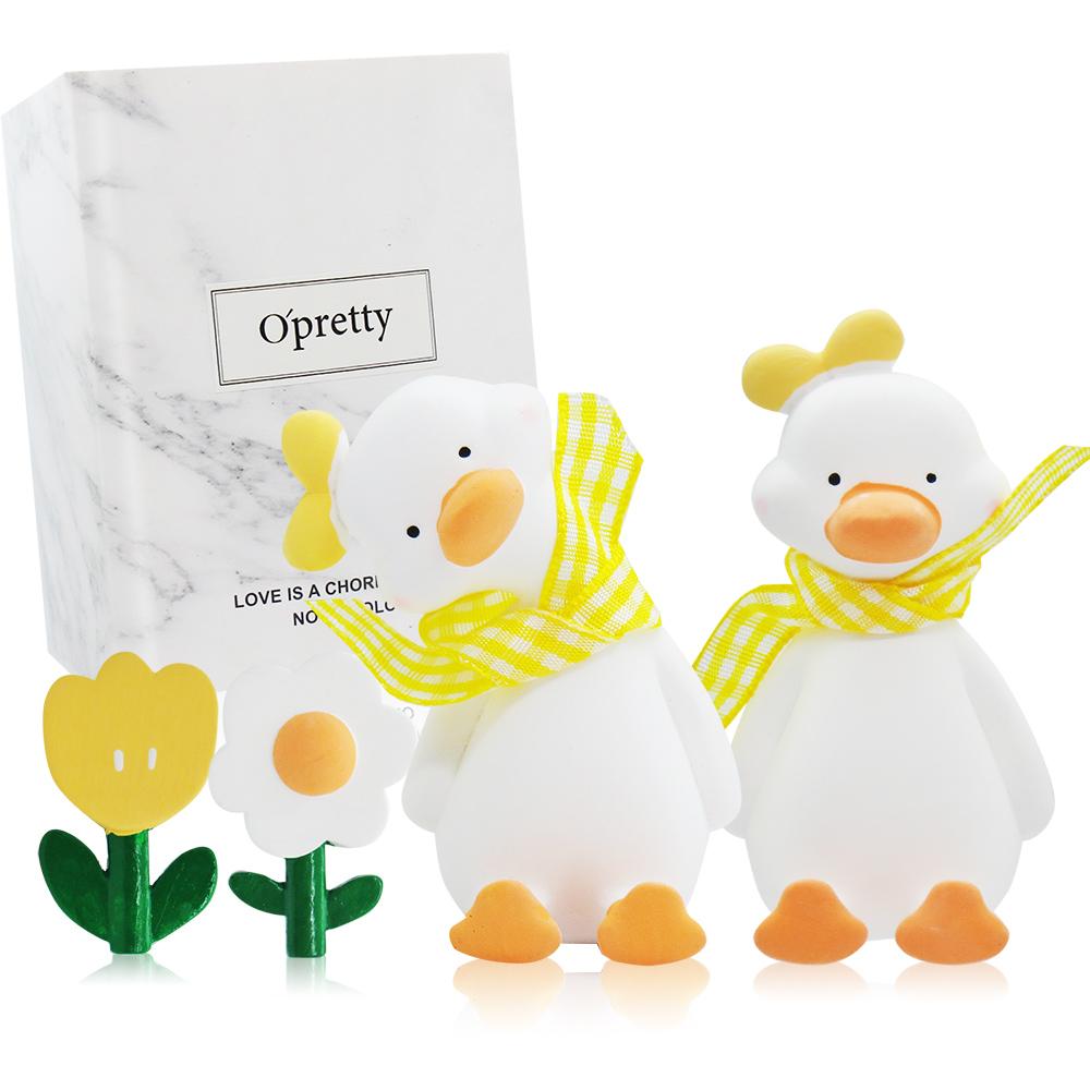 O'Pretty 歐沛媞 車用香氛擴香石擺飾-元氣加油鴨禮盒(黃色)