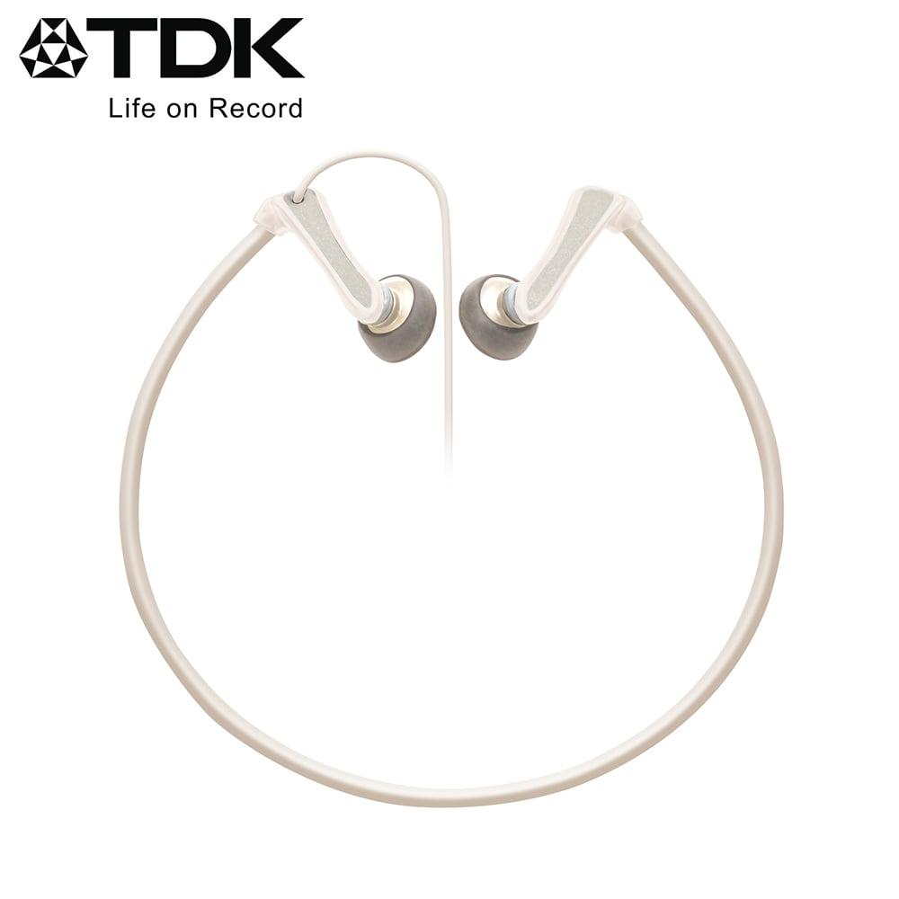 TDK 後掛式運動型耳機 CLEF-Active - 白色