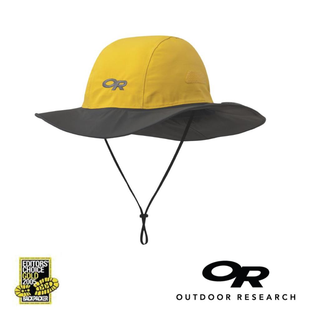【美國Outdoor Research】黃色XL-經典款防水透氣防曬可折疊遮陽帽
