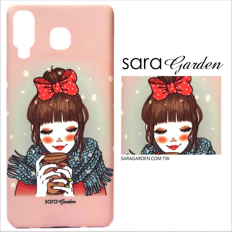 【Sara Garden】客製化 手機殼 Samsung 三星 A8 Star 手繪可愛女孩 手工 保護殼 硬殼