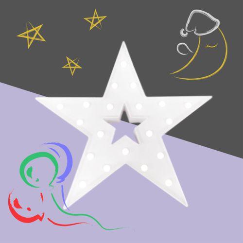 大力女造型LED小夜燈-白色星星 (大)