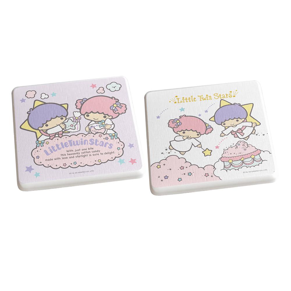 【收納王妃】雙子星天空雲款/三麗鷗系列珪藻土杯墊(2入組)