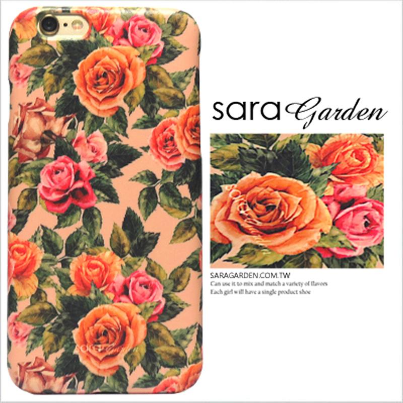【Sara Garden】客製化 手機殼 蘋果 iPhone6 iphone6S i6 i6s 復古 碎花 玫瑰花 硬殼 限定