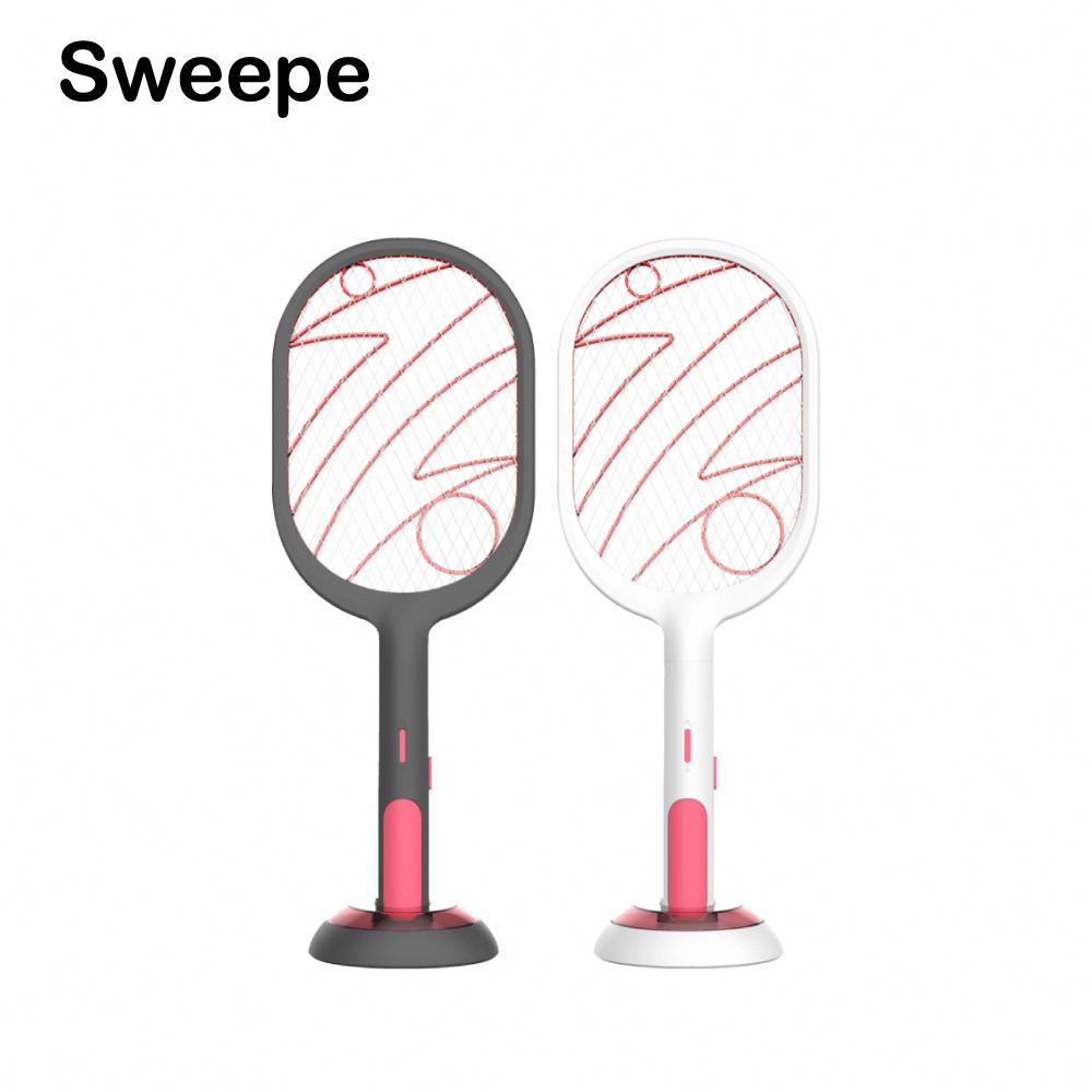 Sweepe USB多功能電擊式2用安全電蚊拍 黑色