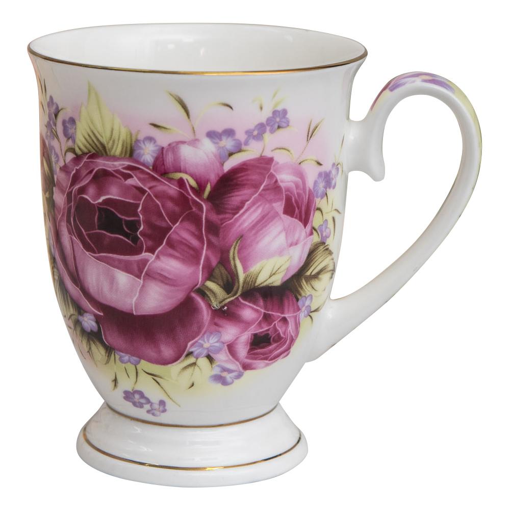 【Beatrice碧翠絲】歐式典雅骨瓷馬克杯-紅玫瑰