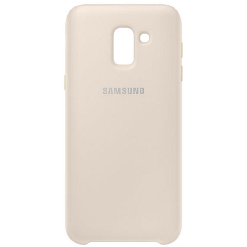 SAMSUNG Galaxy J6薄型透明背蓋-PC及TPU混和 金色