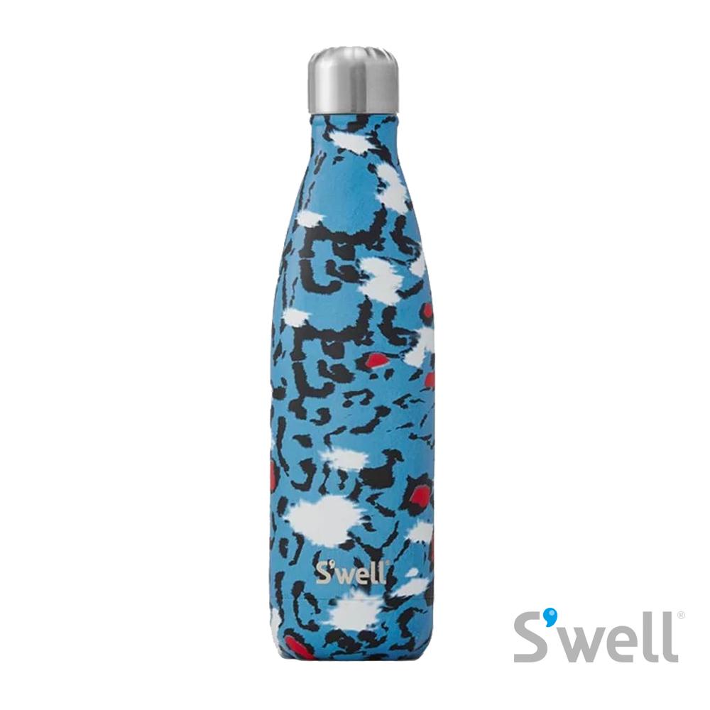 【S'well】紐約時尚不鏽鋼保冷保溫瓶-Exotics系列 Azure Leopard 17oz(500ml)