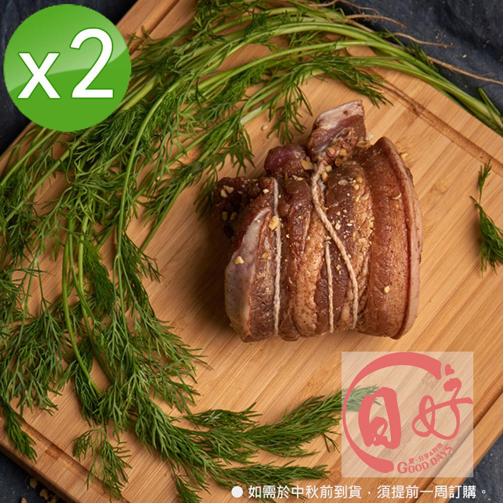 【日好】究好豬-臘肉x2盒組(原味)