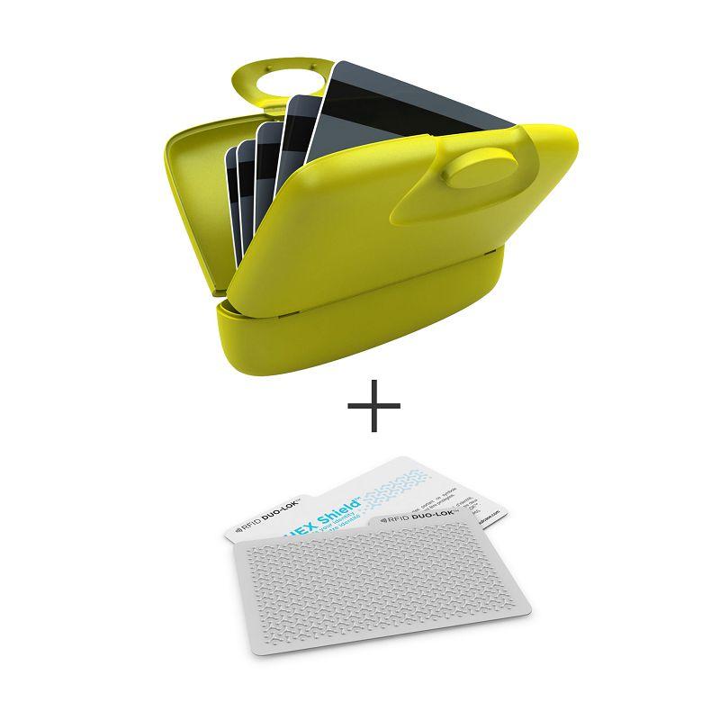 加拿大 Capsul + Duo-Lok RFID 防盜錄卡(2張) - 黃綠