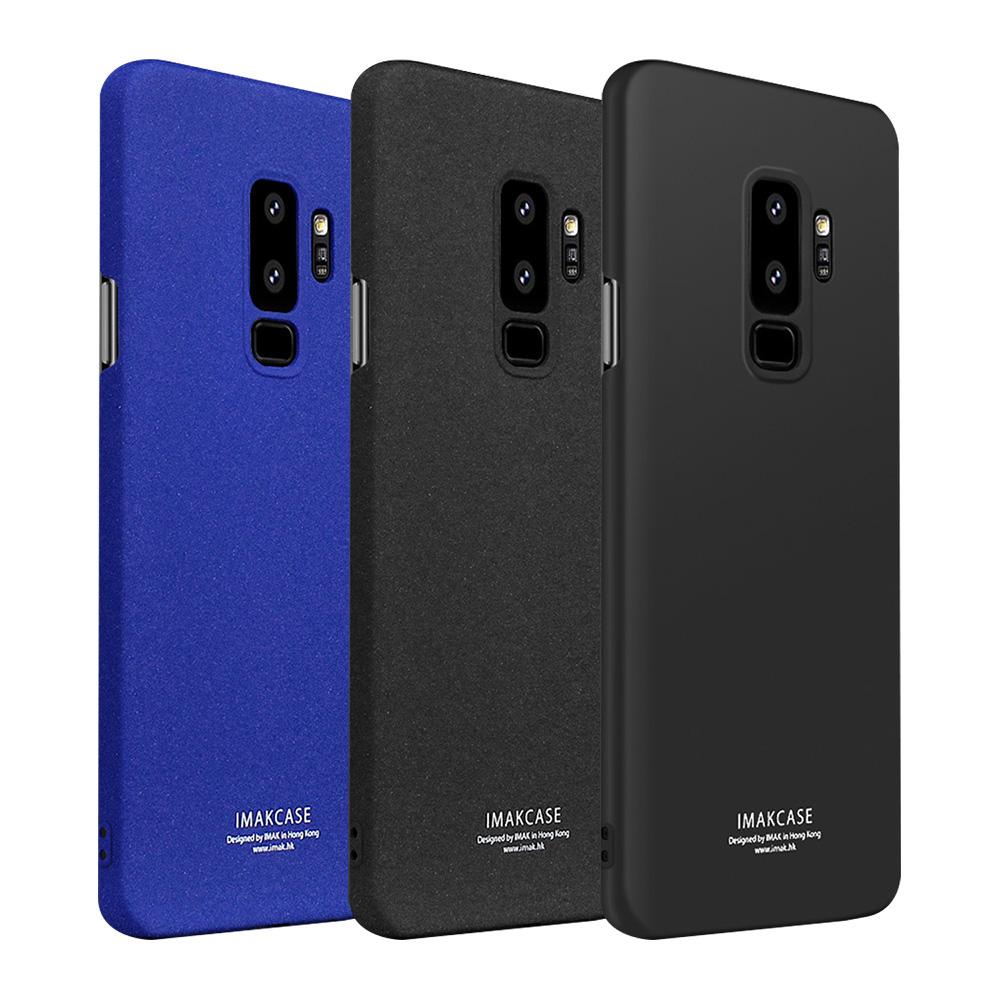 Imak SAMSUNG Galaxy S9+ 創意支架牛仔殼(磨砂藍)