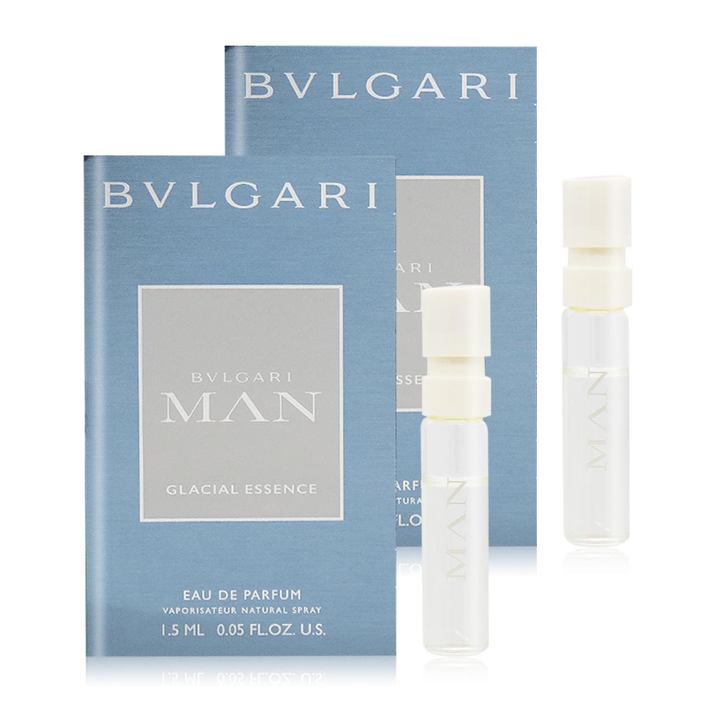 BVLGARI 寶格麗 極地冰峰男性淡香精 Glacial Essence(1.5ml)X2 EDP-香水隨身針管試香