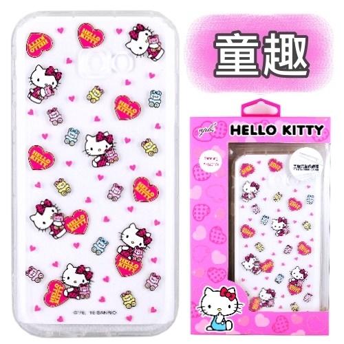 【Hello Kitty】Samsung Galaxy A5 (2017) 5.2吋 彩繪空壓手機殼(童趣)