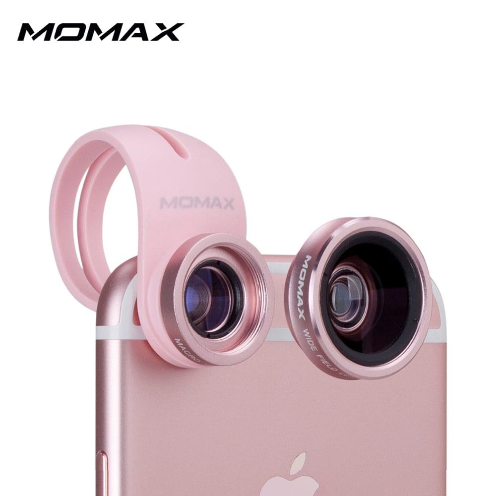 MOMAX 廣角 微距 二合一手機鏡頭-玫瑰金