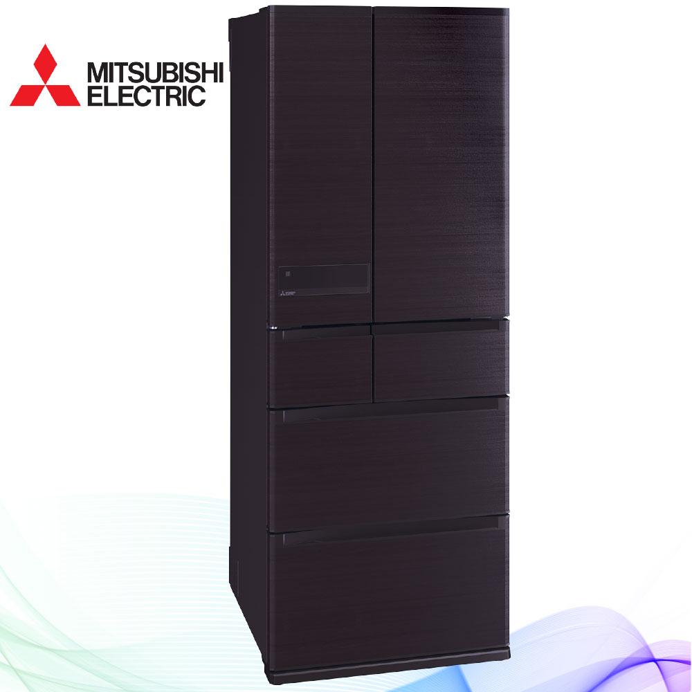 三菱605L日本原裝變頻六門電冰箱MR-JX61C木紋棕(RW)
