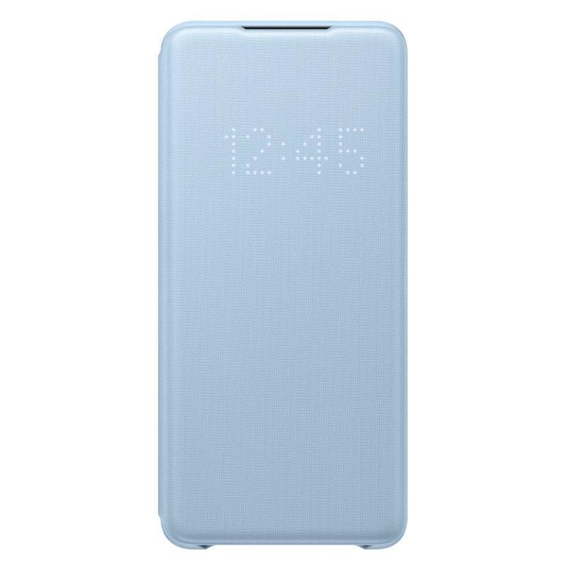 SAMSUNG Galaxy S20+ 5G LED皮革翻頁式皮套 天空藍