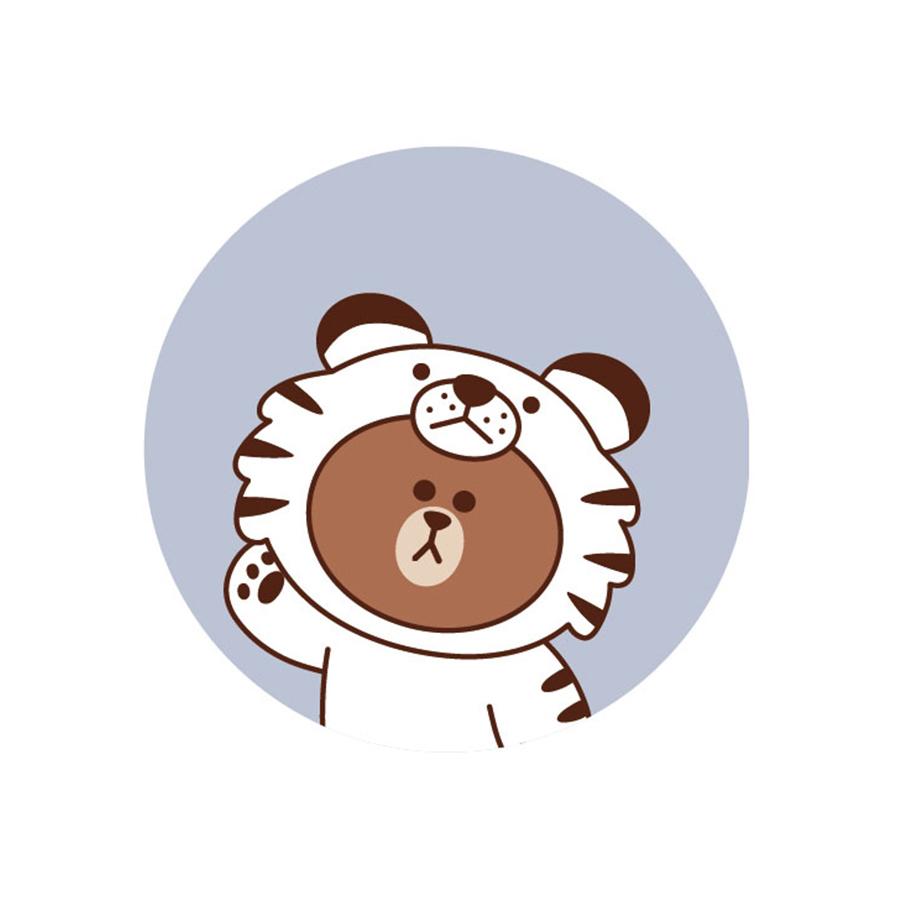 【收納王妃】LINE FRIENDS授權叢林系列珪藻土吸水杯墊 (2入一組)【老虎熊大】