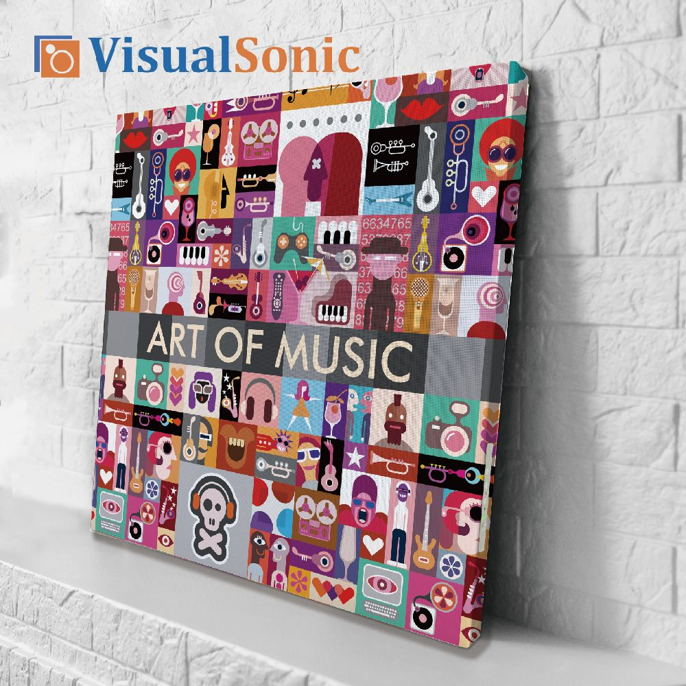 【VISUAL SONIC 夏潮 】超薄藍牙畫布音箱 Art of Music