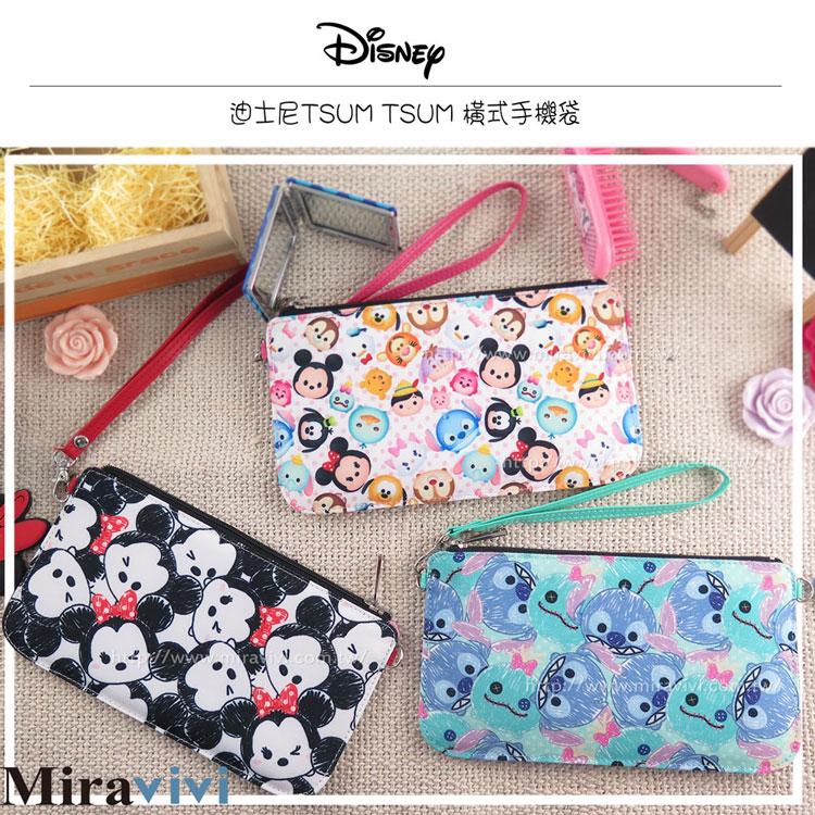Disney迪士尼TsumTsum橫式手機袋/萬用包/手腕袋_史迪奇