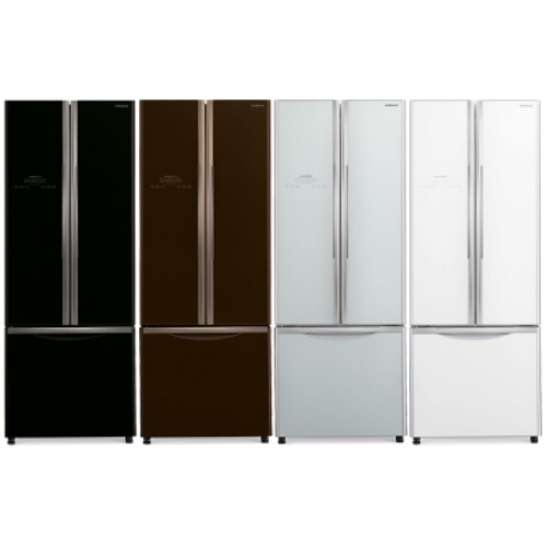 【HITACHI 日立】靜音變頻421L三門對開冰箱RG430-琉璃棕
