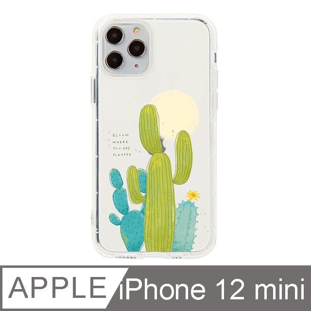 iPhone 12 Mini 5.4吋 Mandie園藝小日子插畫防摔iPhone手機殼 仙人掌
