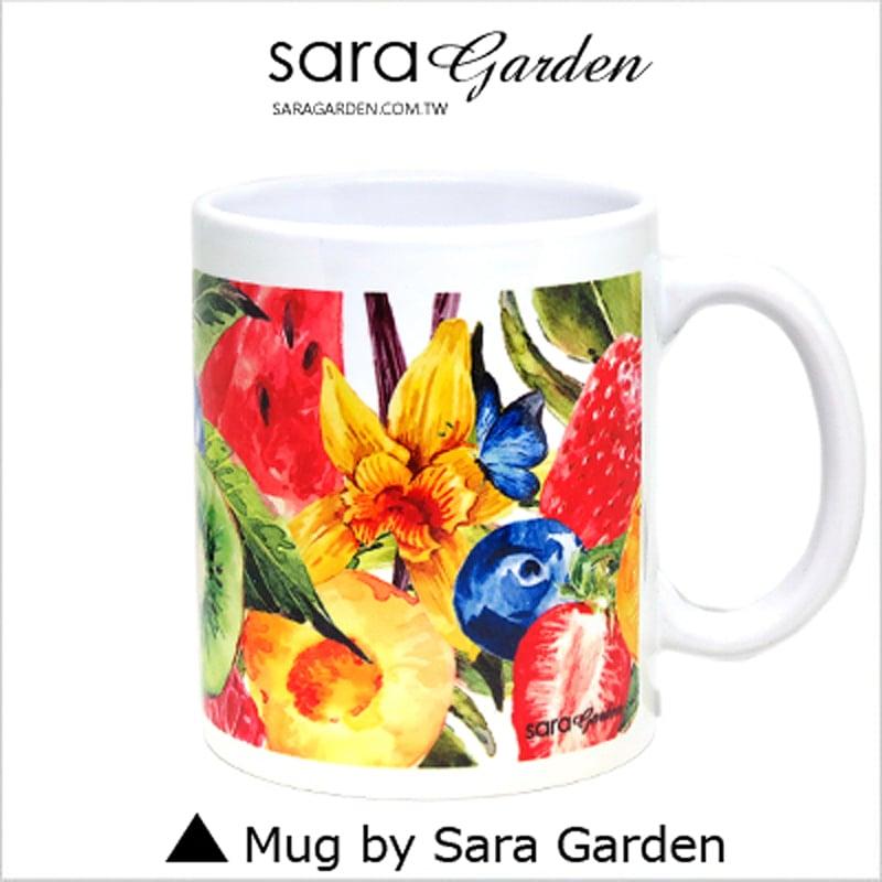 【Sara Garden】客製 手作 彩繪 馬克杯 Mug 手繪 插畫 水彩 滿版 水果派 拼盤 咖啡杯 陶瓷杯 杯子 杯具 牛奶杯 茶杯