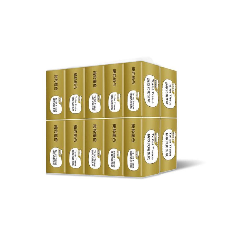 【簡約組合】優質抽取式衛生紙200抽*20包/串-金