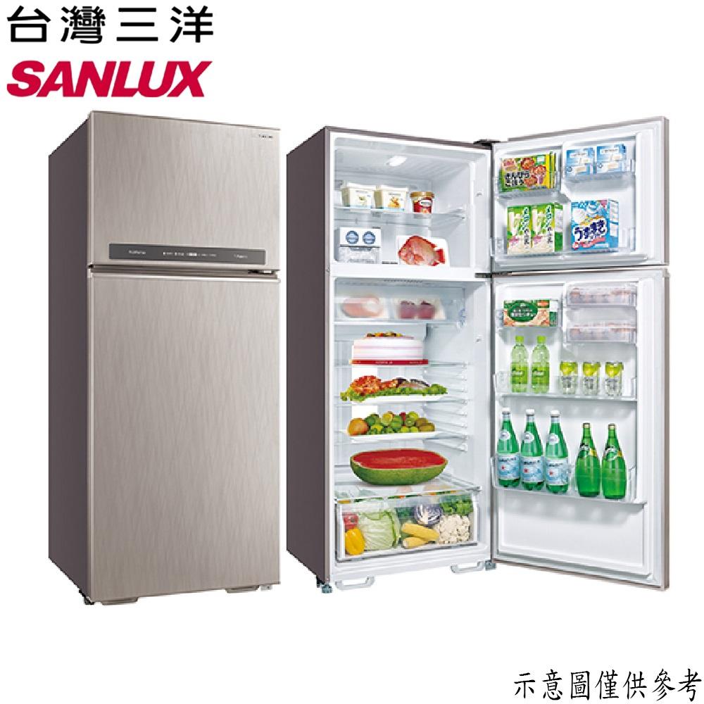 【SANLUX台灣三洋】480L 變頻雙門冰箱 SR-C480BV1B