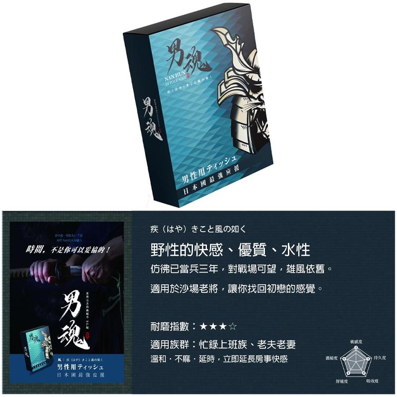 男魂【風】男用活力 持久 延時 保養紙巾 5片裝【送套套尺】SL檢驗認證