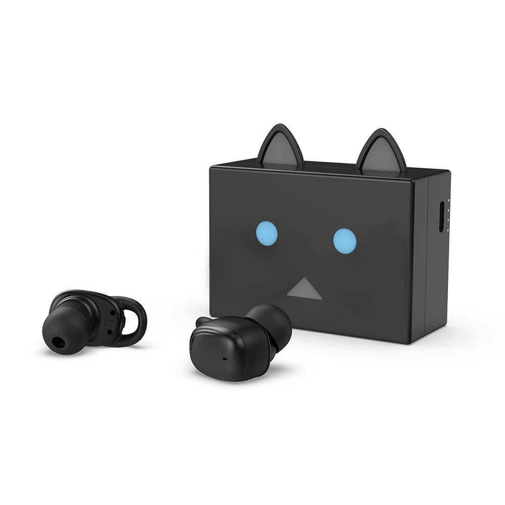 cheero貓咪阿愣藍牙5.2無線耳機 - 黑貓
