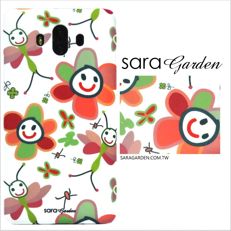 【Sara Garden】客製化 手機殼 SONY XZP XZ Premium 手繪微笑小花 手工 保護殼 硬殼